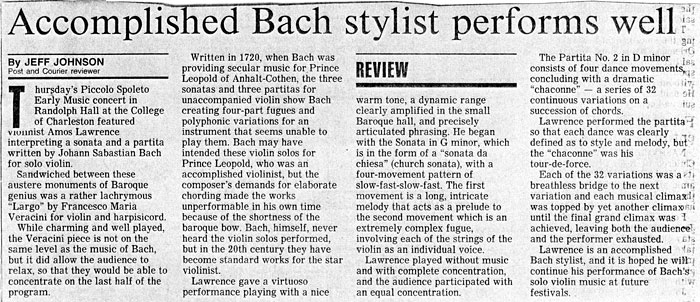 Accomplished Bach stylist performs well